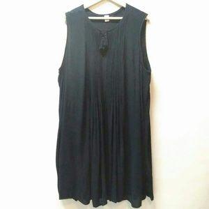 Old Navy Black Sleeveless Midi Dress Size XXL